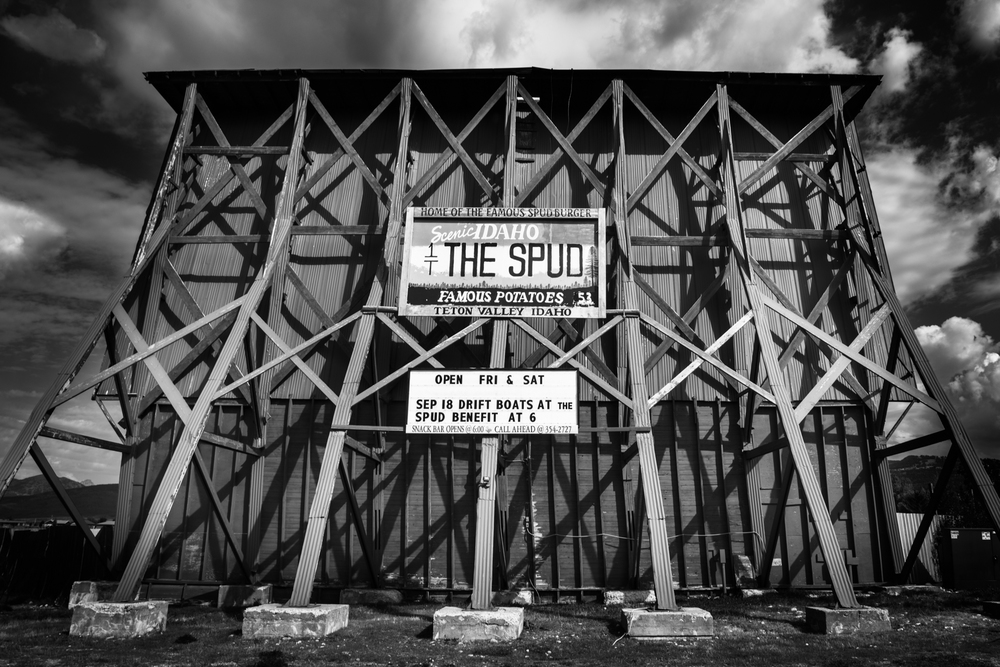 The Spud Drive-In, operational theatre in Driggs, Idaho.