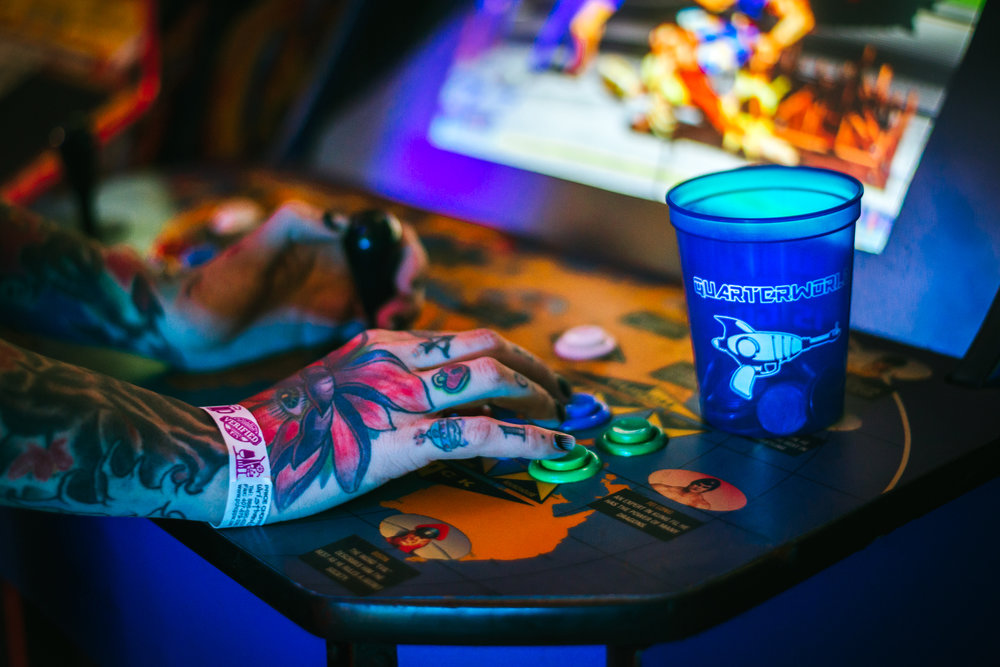 Promotional shot for  Quarterworld Arcade