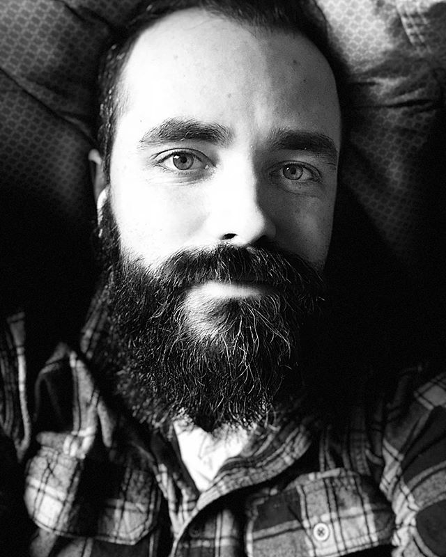 Portrait Mode: Stage Light Mono  #iphonex #selfie #portrait #naptime #airpods #flannel