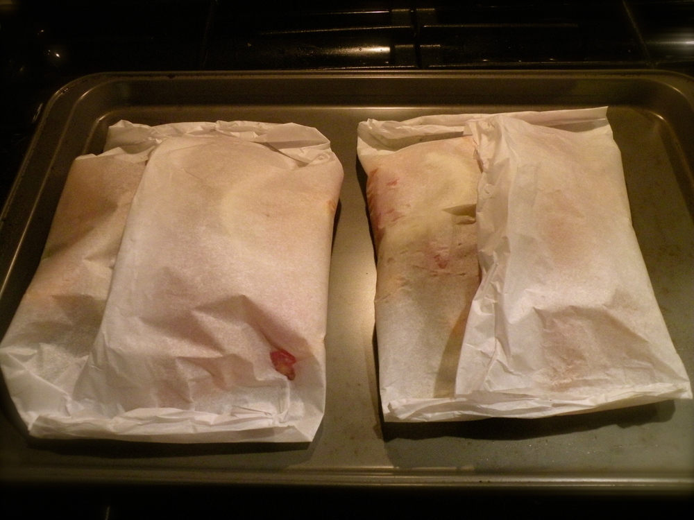Wrap fish and veggies in parchment paper pockets to keep all of the juicy goodness locked in.