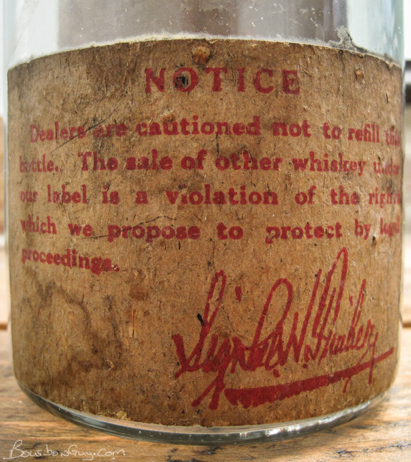 Old Malvern back label
