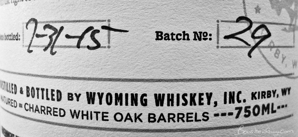 Wyoming Whiskey, Batch 29. Purchased in Casper, WY at the Liquor Shed