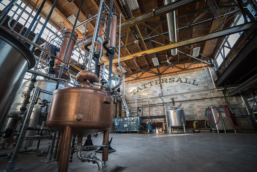 The distillery at Tattersall Distilling. (Photo Credits: Producer: Sam Kovar. Photographer: Tom Okins.)