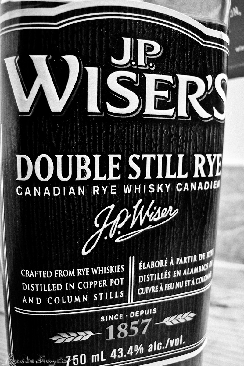 Front label of J.P. Wiser's Double Still Rye