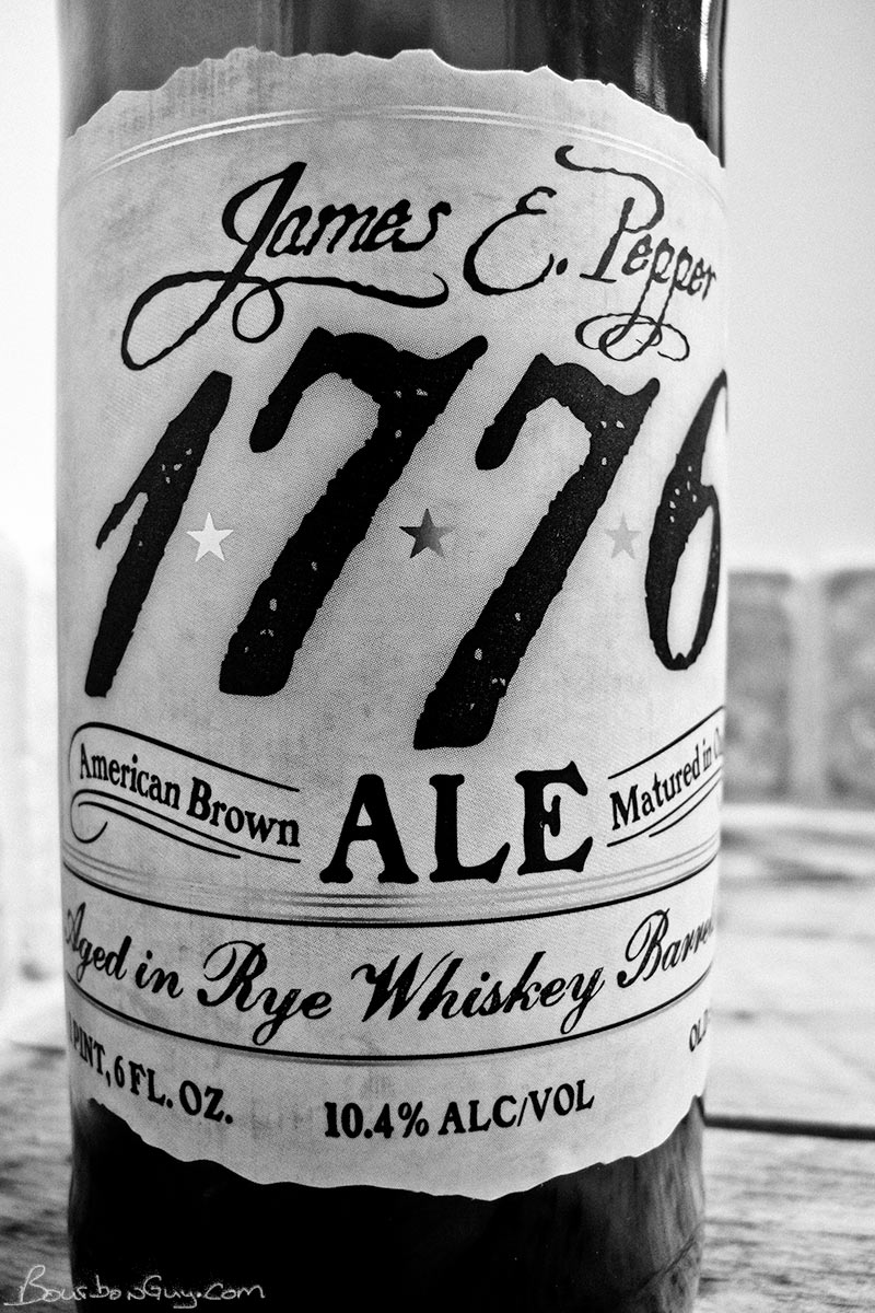 James E Pepper Ale. Brown Ale aged in Rye Whiskey Barrels.