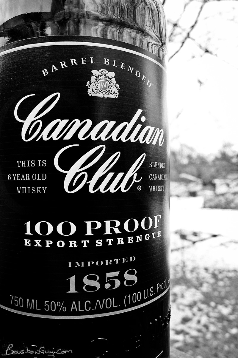 A bottle of Canadian Club 100 proof. When I bought it, had a thick layer of dust on it.
