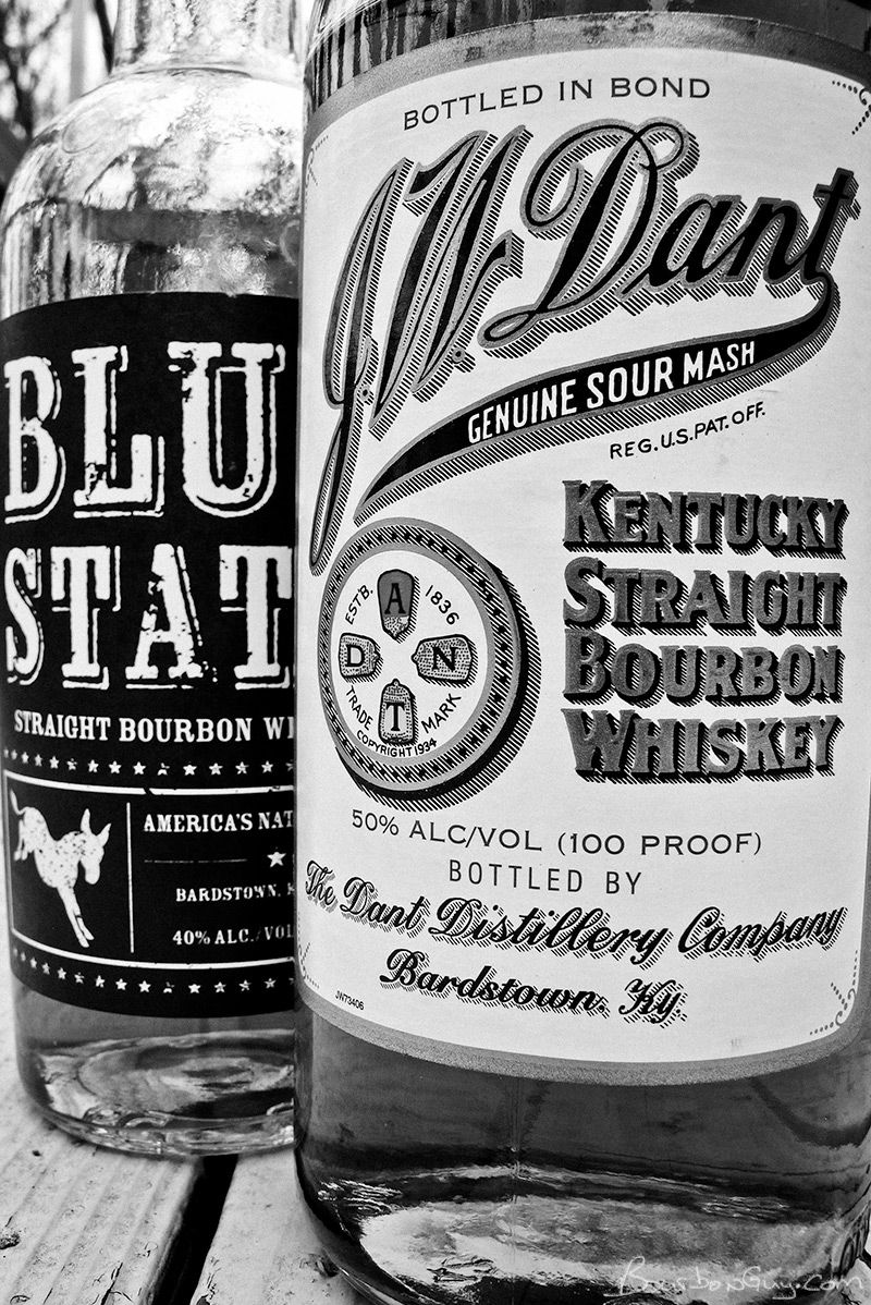 JW Dant Bottled in Bond vs. Blue State