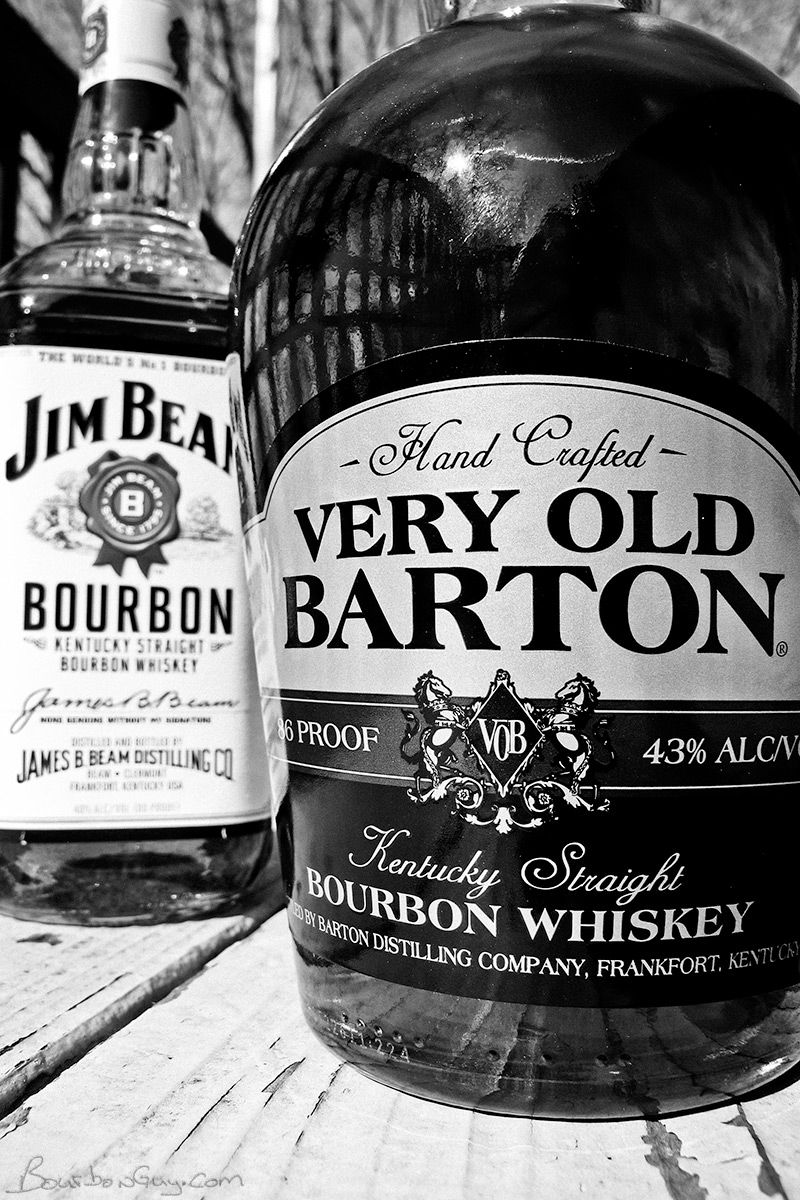 Very Old Barton 86 proof vs Jim Beam white label