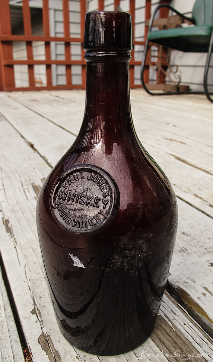 Paul Jones Whiskey Bottle. Probably from the 19th Century.
