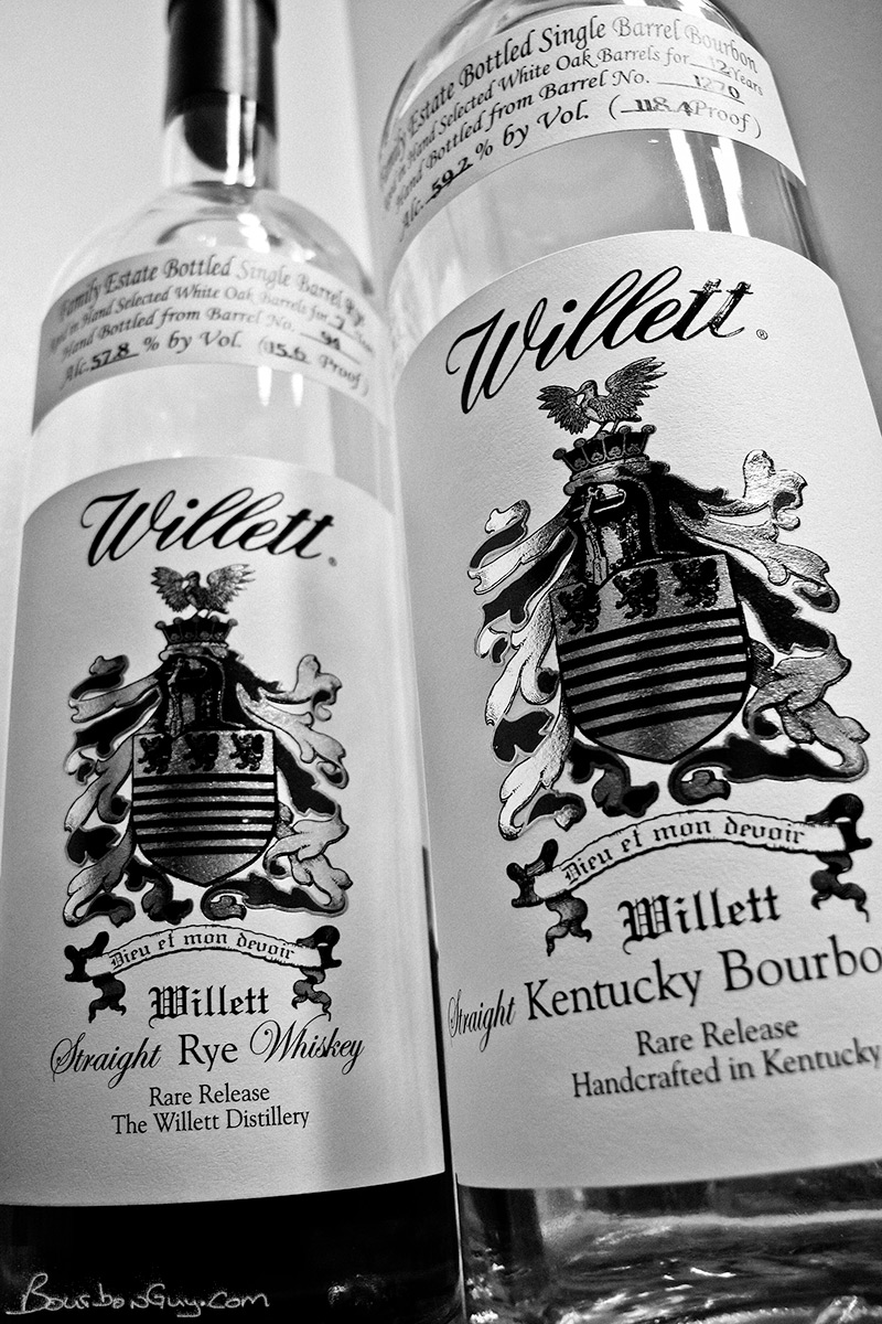 Willett Family Estate Bottled Single Barrel Rye and Bourbon
