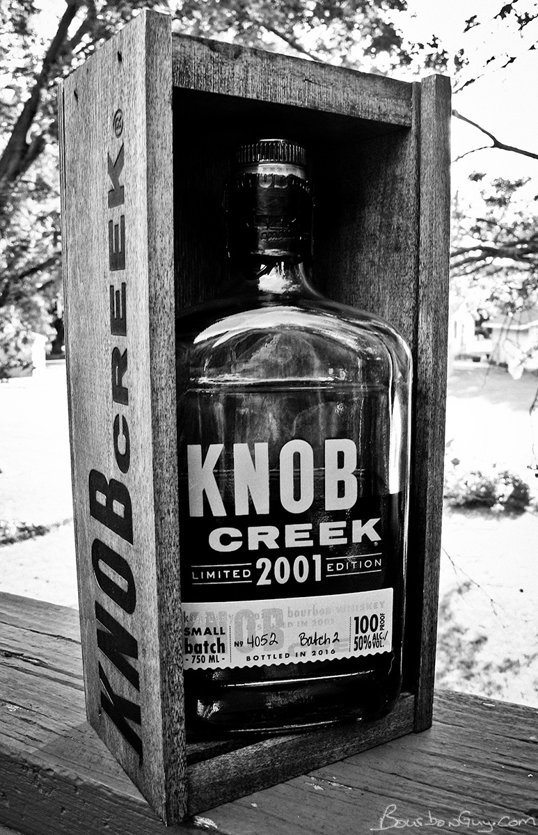 Knob Creek 2001 Limited Edition in it's fancy box.