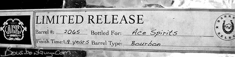 Detail label from High West Rendezvous Rye Limited