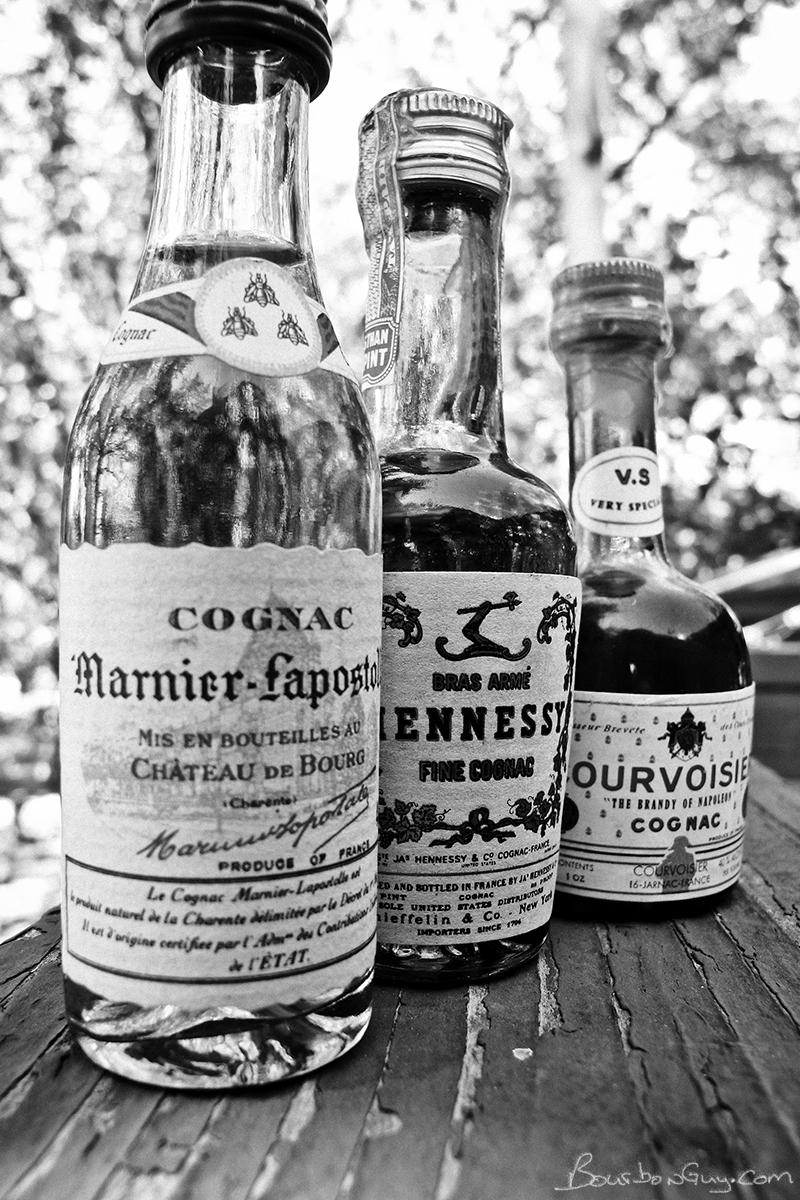 Three 1970s era dusty cognacs
