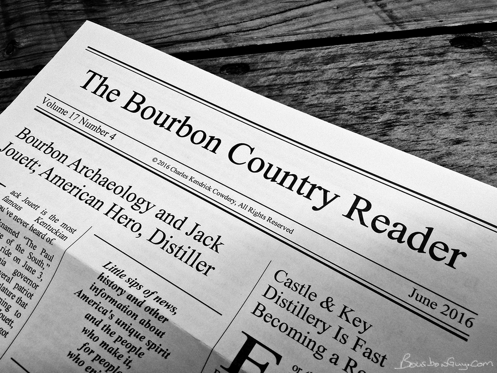 Chuck Cowdery's  The Bourbon Country Reader