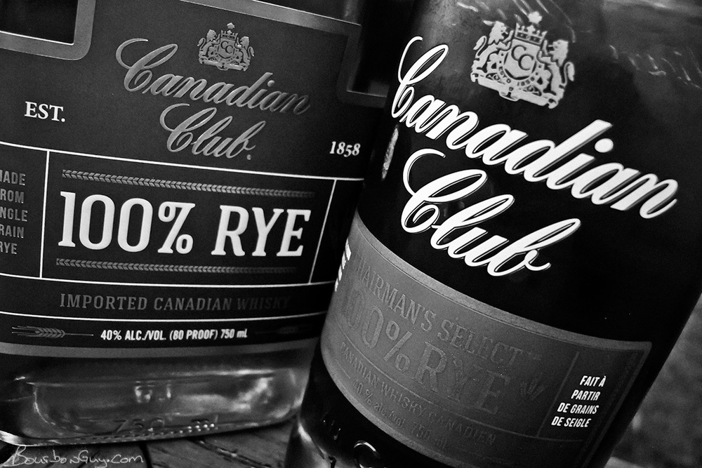 Canadian Club 100% Rye from the U.S. and from Canada