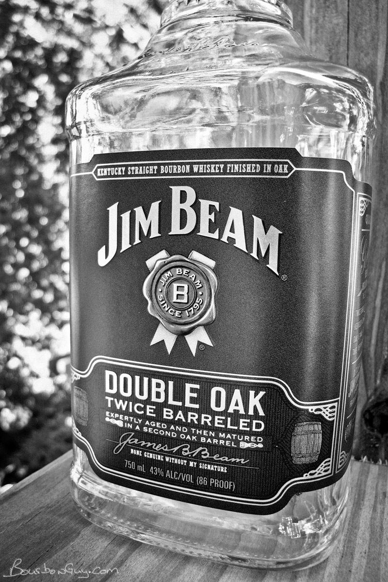 My empty bottle of Jim Beam Double Oak bourbon