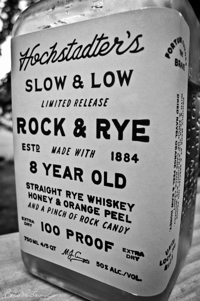 Limited Release Orange Label, 100 proof Hochstadter's Slow & Low Rock and Rye