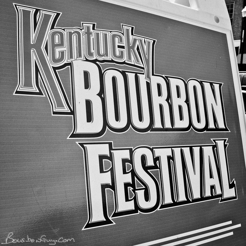 Kentucky Bourbon Festival sign.