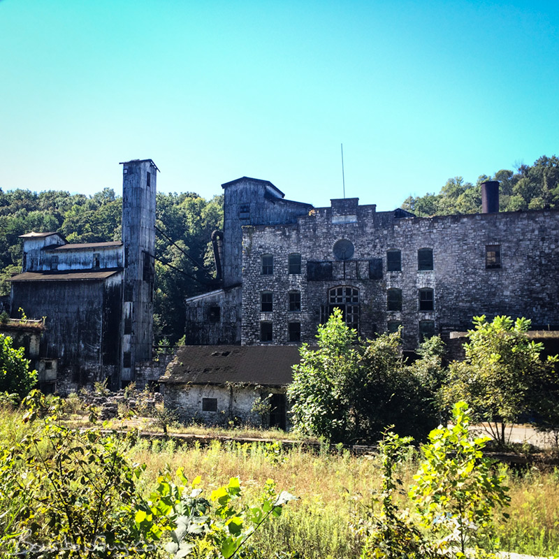 The ruins of Old Crow Distillery at Glenn's Creek Distillery