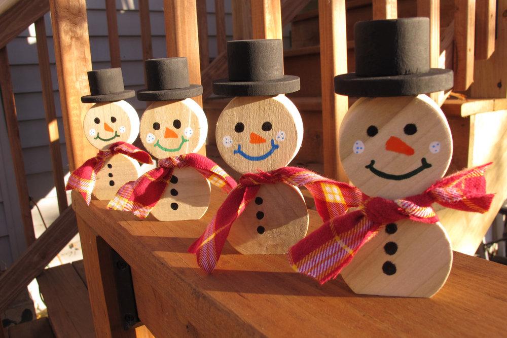 Barrel Bung Snowmen