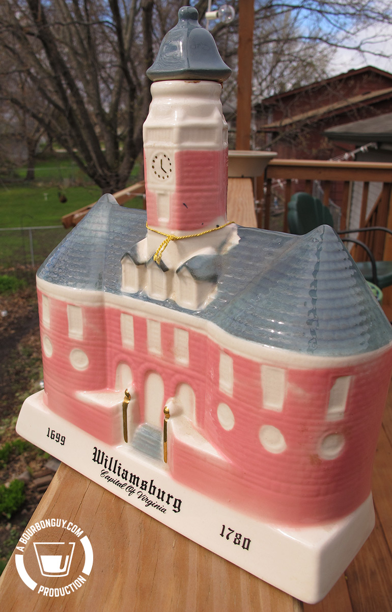 Bourbon Supreme Williamsburg decanter, 1969 Front