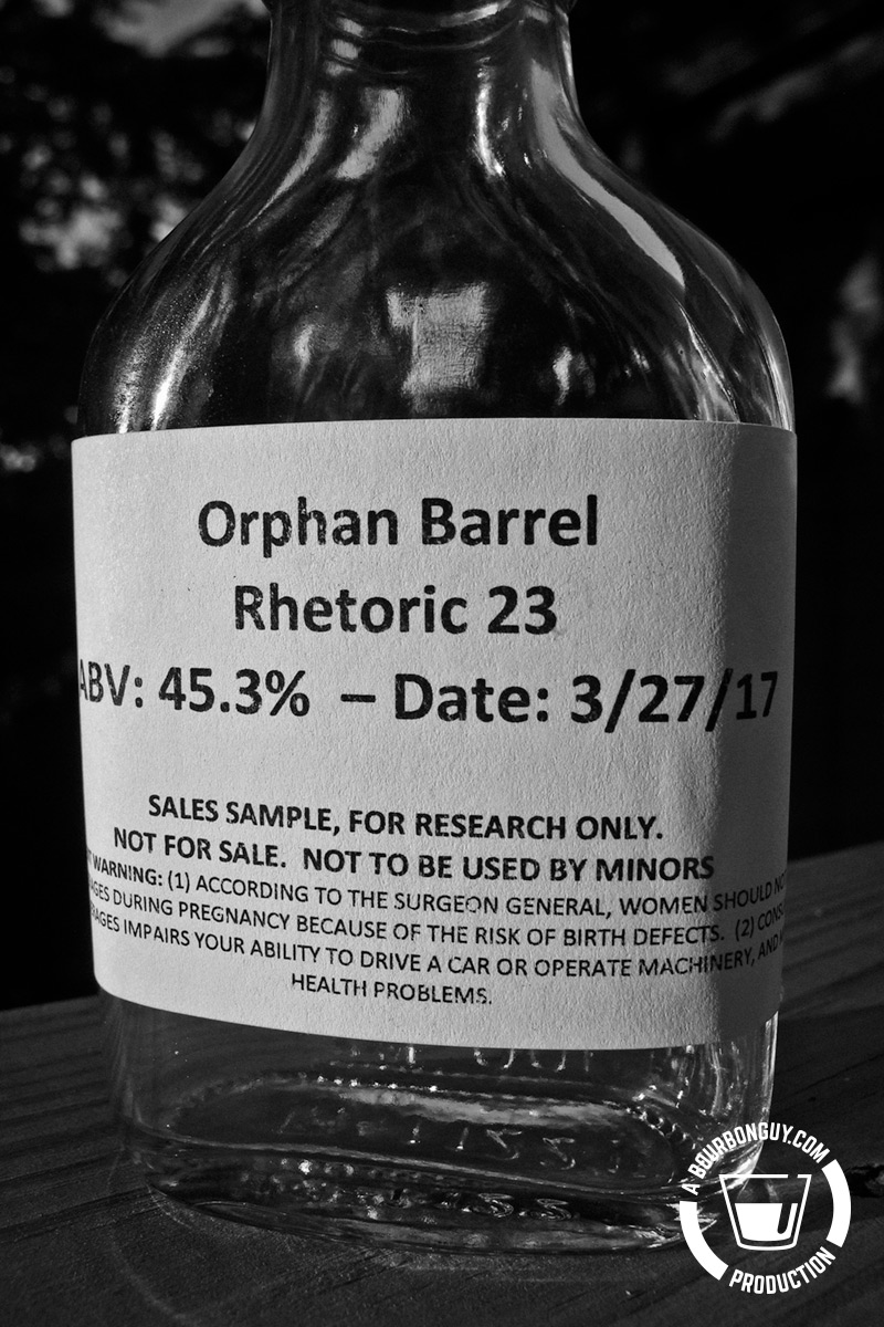 Orphan Barrel: Rhetoric 23-Year-Old Bourbon