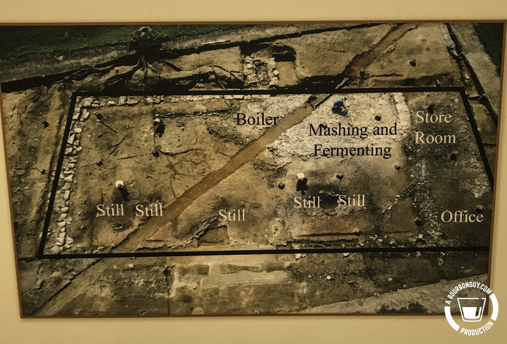 The historic floor plan as it was excavated