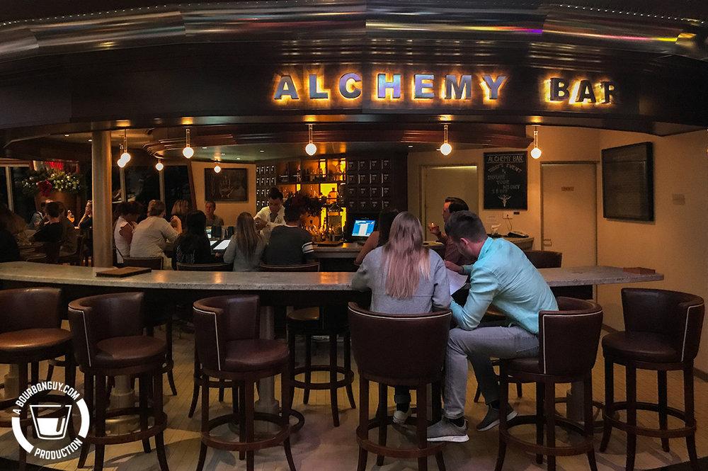 The Alchemy Bar on the Carnival Glory.