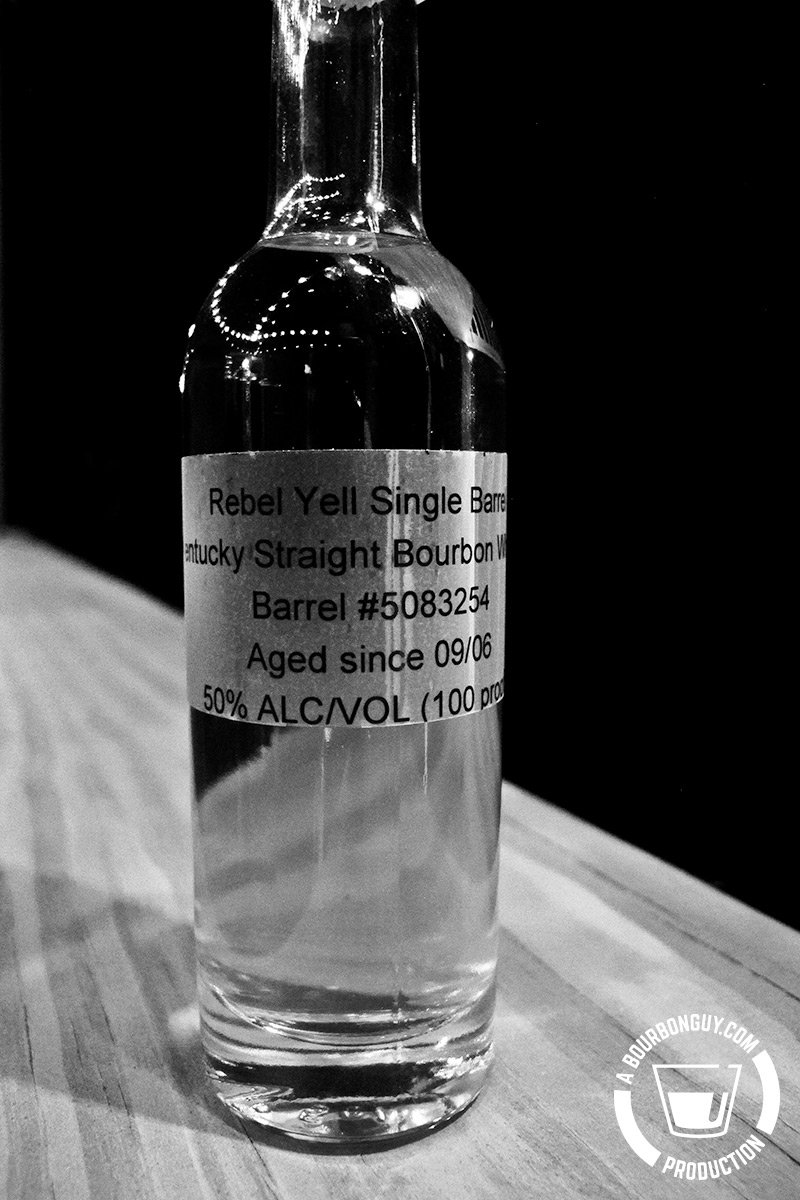 Image: Sample bottle of Rebel Yell Single Barrel