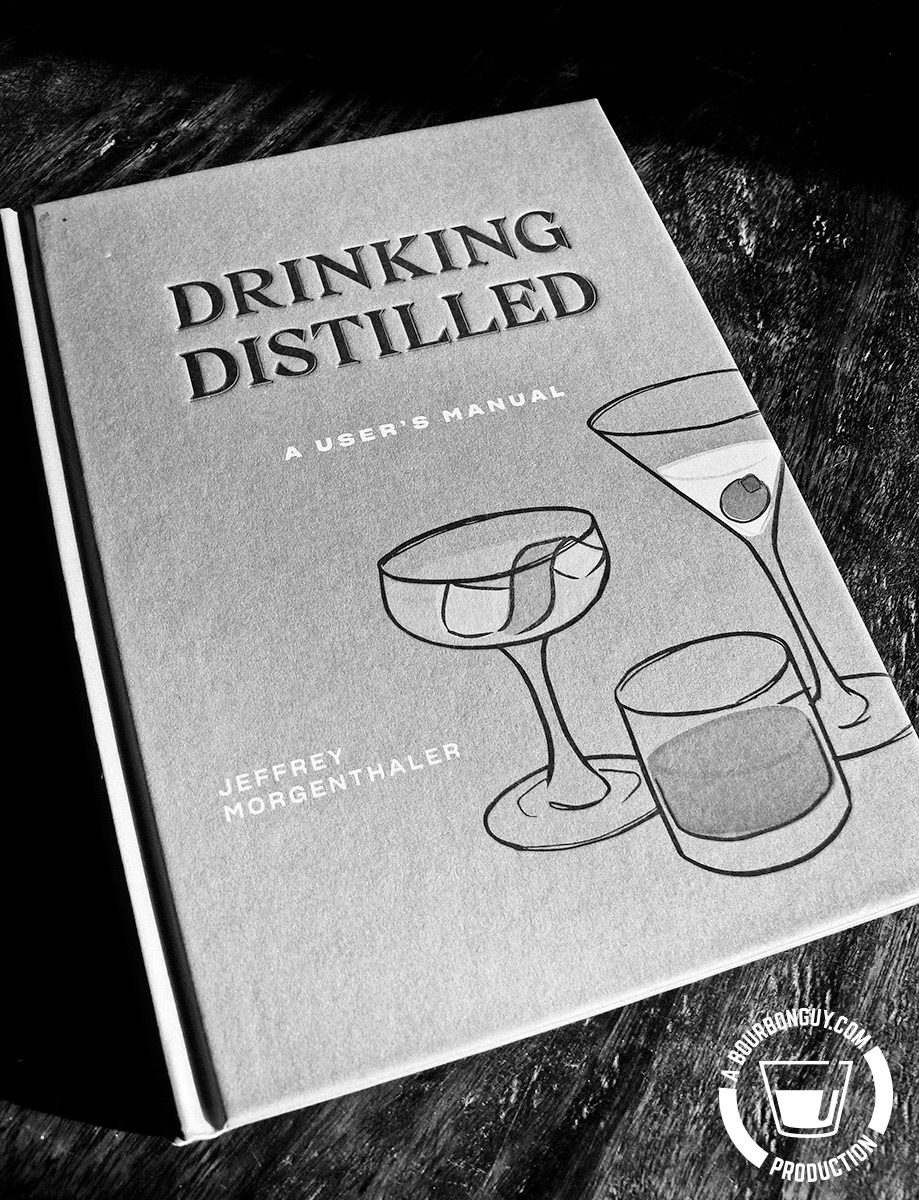 Image: The book Drinking Distilled: A User's Manual by Jeffrey Morgenthaler laying on a table