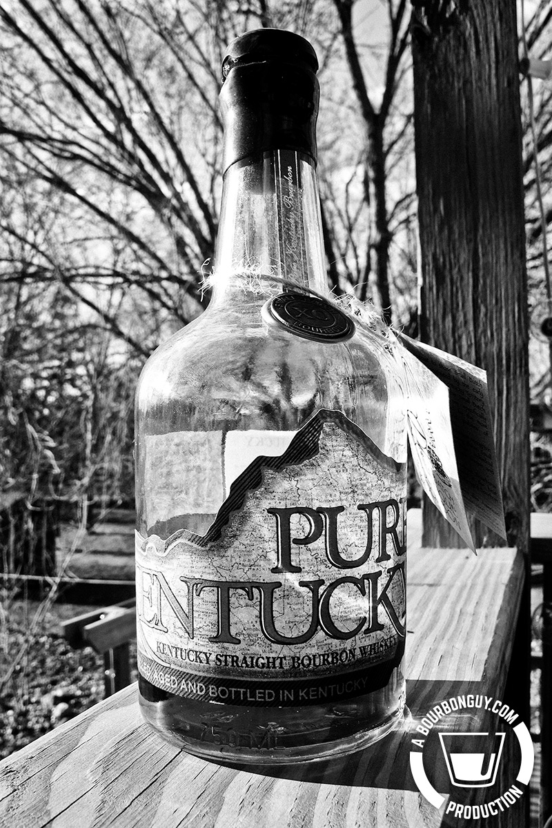 Image: Bottle of Pure Kentucky brand bourbon.