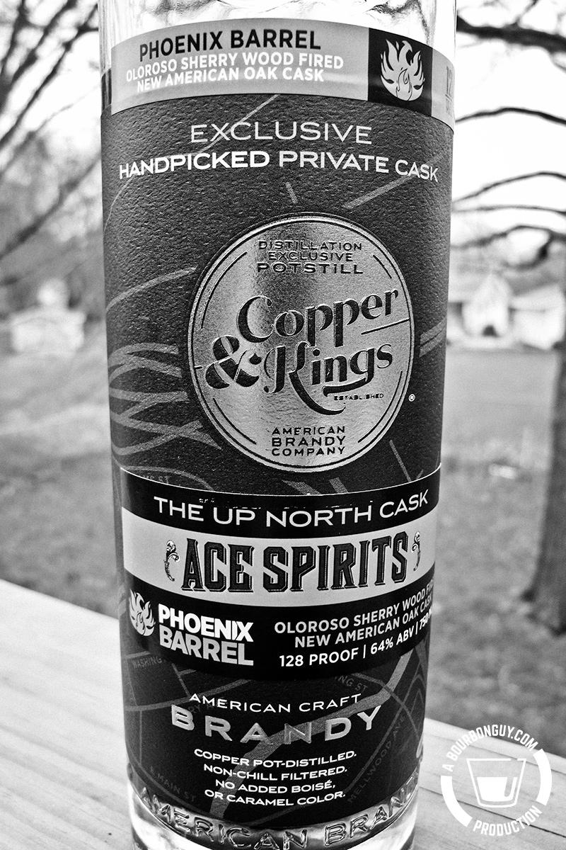 Image: A bottle of Copper & Kings brandy. An Ace Spirits pick from the C&K Phoenix Barrel line.