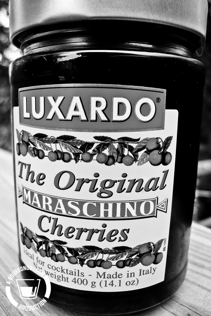 Image: Front label of Luxardo Maraschino Cherries.