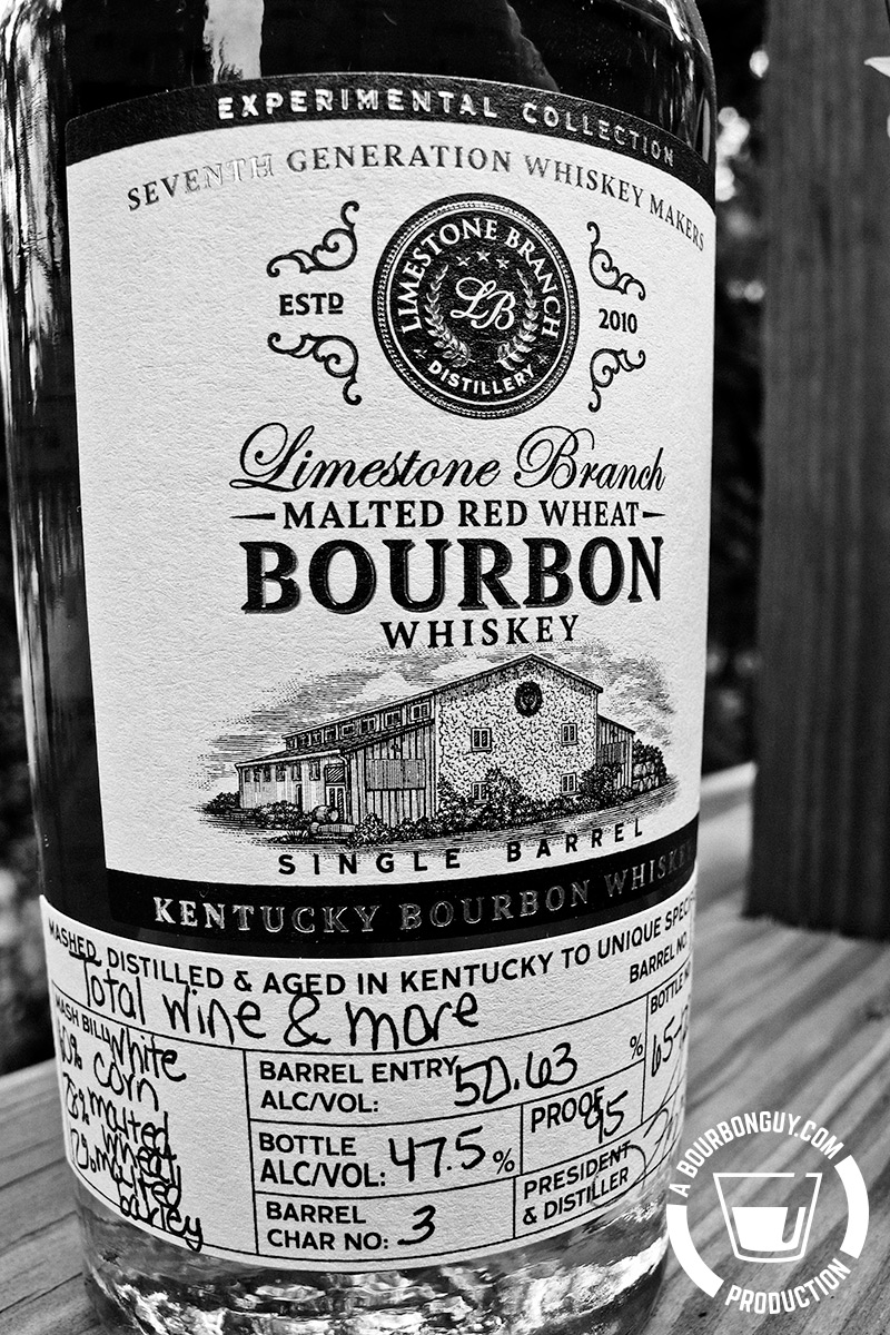 IMAGE: the front label of a bottle of Limestone Branch Experimental Collection Malted Red Wheat Bourbon