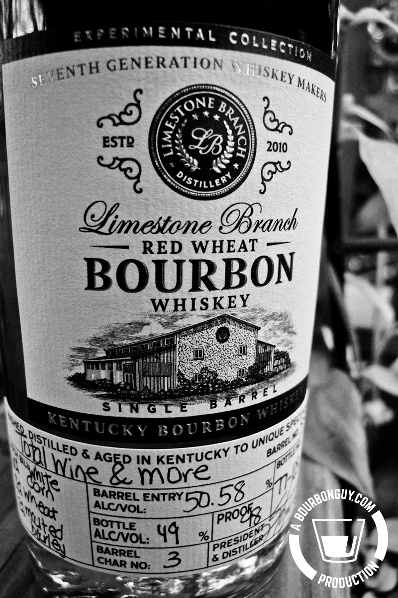 IMAGE: Front label of Limestone Branch Experimental Collection Red Wheat Bourbon from Total Wine.