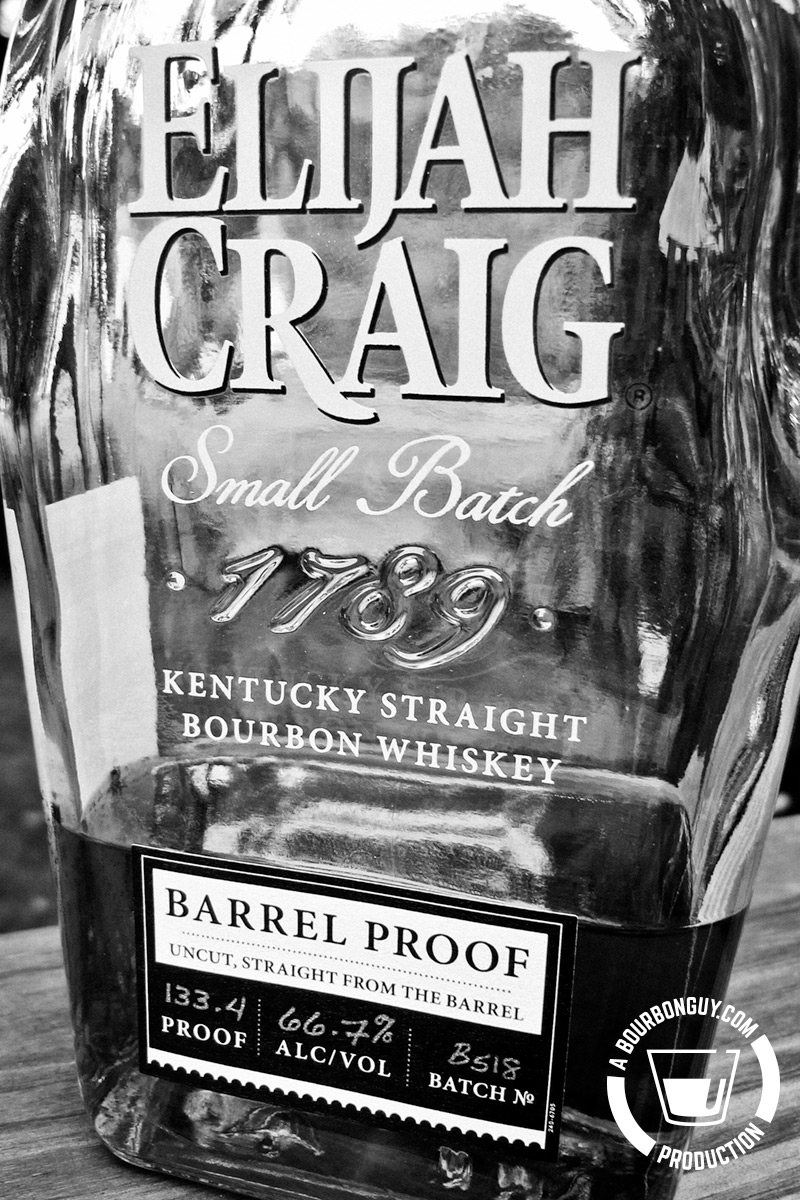IMAGE: The front label of a bottle of Elijah Craig Barrel Proof.