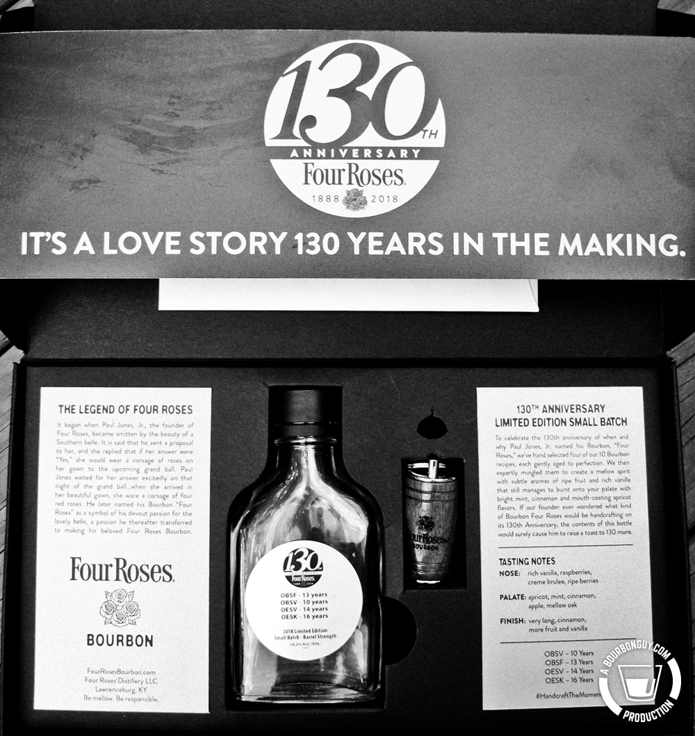IMAGE: The media kit review sample provided by Four Roses.