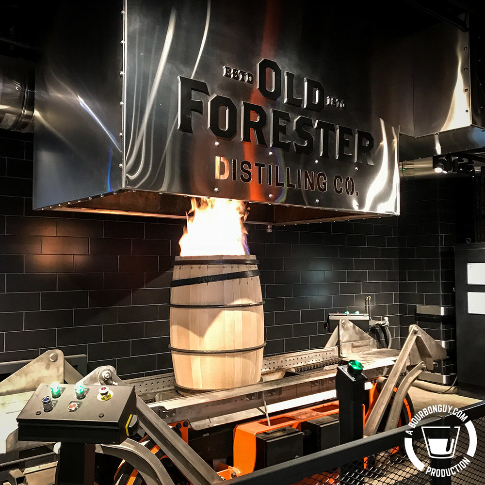 Old Forester Distilling Co. Barrel Charring