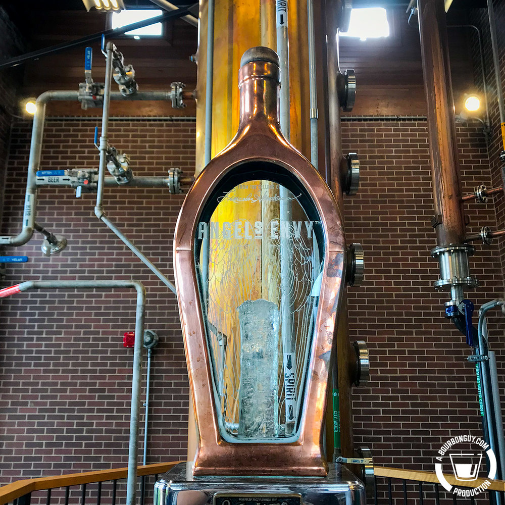 IMAGE: The Angel's Envy Spirit Safe with new make whiskey flowing through it.