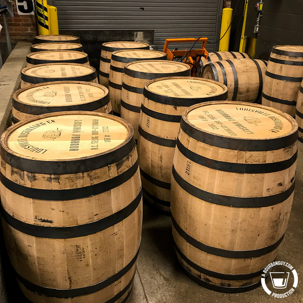 IMAGE: Barrels waiting to be filled and trucked to the aging warehouses