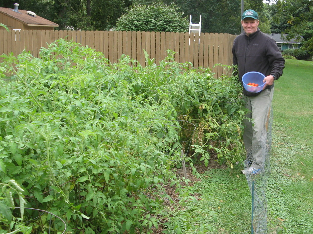 Pastor Bob tending to the ever growing Faith Garden.