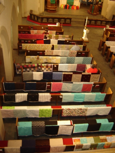 Quilts made by members of St. John's and sent to Lutheran World Relief (LWR) to be give to needy people around the world.
