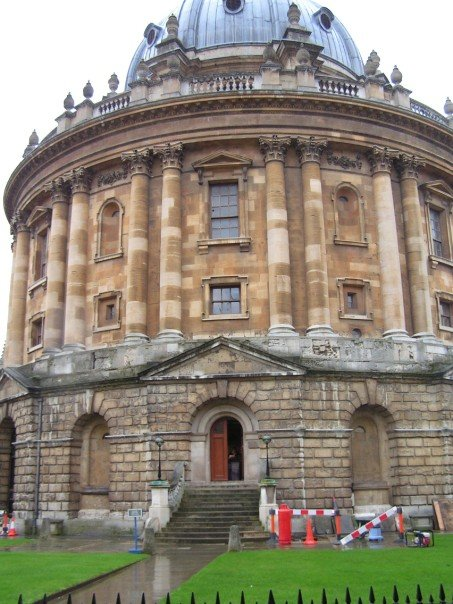 The Radcliffe Camera, where I studied much of the time, is only accessible by a staircase. Even that leads to two staircases going up or down to the upper and lower libraries, respectively.