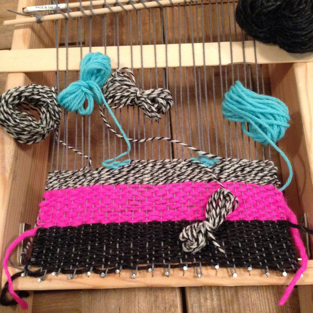Getting started on my first lap loom weaving project. Special thanks to Megan Bogden of Native Textile for the great handmade loom and instruction!