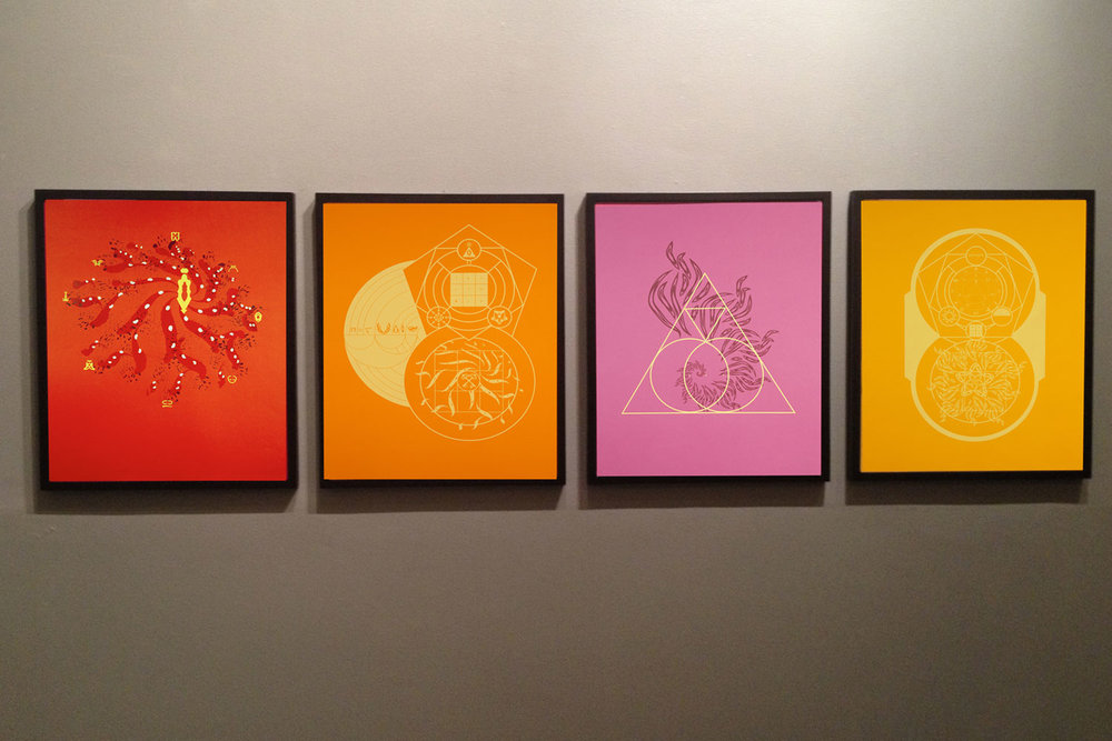 "MAP  Series I • Set of Four 18"" x24"" Silkscreens on paper"