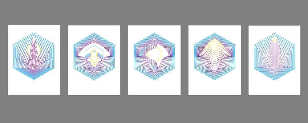 "Orbits  • 18"" x 24"" Giclee Print • Version I - V"