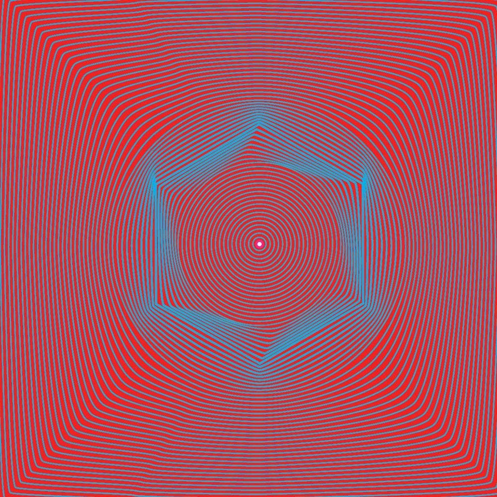"Orbits  • 36"" x 36"" Giclee Print • Version XXV"