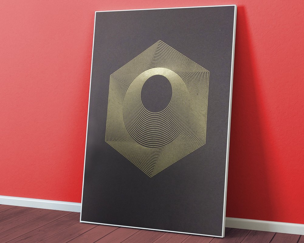"Orbits  • 9"" x 12"" Silkscreen Print • Version XXIII"