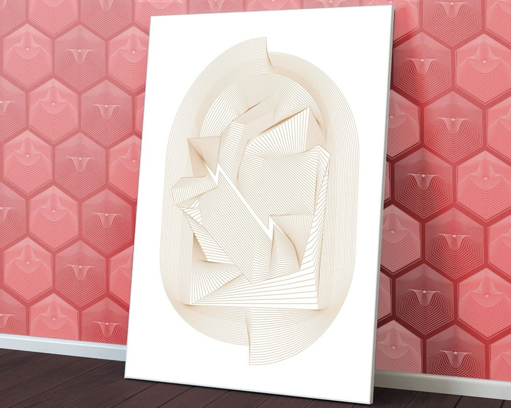 "Orbits  • 9"" x 12"" Silkscreen Print • Version XXIV"