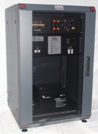 """The SMR Battery Charger can come complete in a 19""""rack cabinet and the required batteries."""